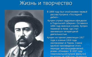 Биография а.и. куприна: жизнь и творчество писателя