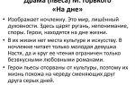 Анализ пьесы м. горького «на дне»