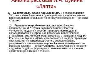 Анализ произведения бунина «лапти»