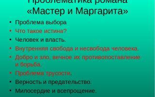 Проблемы в романе булгакова «мастер и маргарита»