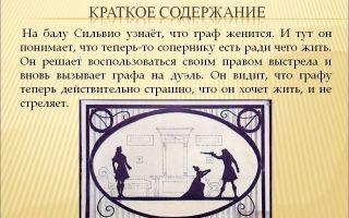 Кратчайшее содержание произведения «выстрел» для читательского дневника (а.с. пушкин)