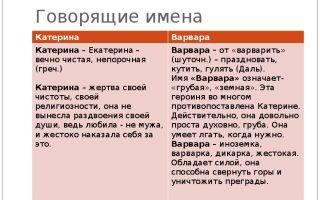 Сравнительная характеристика катерины и варвары в пьесе а. н. островского «гроза»