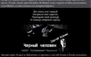 Анализ поэмы «черный человек» (с. есенин)