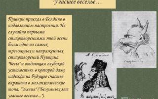 Анализ стихотворения пушкина «демон»