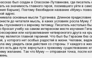 Анализ рассказа тургенева «му-му»