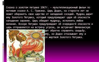 Краткое содержание «сказки о золотом петушке» для читательского дневника (а.с. пушкин)