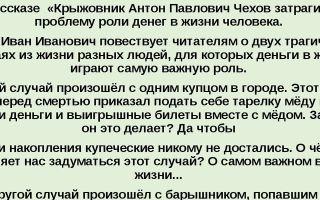 Проблема человеческого счастья в рассказе «крыжовник»