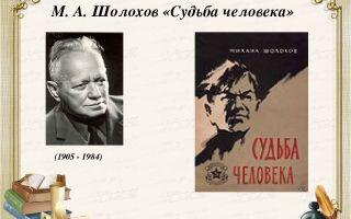Кратчайшее содержание рассказа «судьба человека» для читательского дневника (м. шолохов)