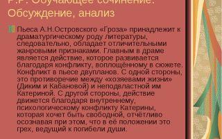 Анализ пьесы «гроза» а. островского