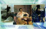 Образ пушкина в изобразительном искусстве