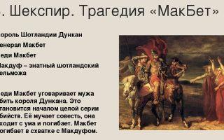 Краткое содержание пьесы шекспира «макбет» для читательского дневника