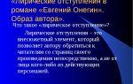 Лирические отступления в романе пушкина «евгений онегин»