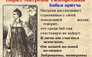 Образ матрены в поэме «кому на руси жить хорошо»