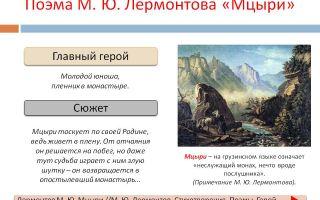 Кратчайшее содержание поэмы «мцыри» для читательского дневника (м.ю. лермонтов)