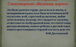 Кратчайшее содержание поэмы «железная дорога» для читательского дневника (н. некрасов)