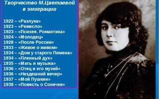 Биография марины цветаевой: жизнь и творчество поэтессы