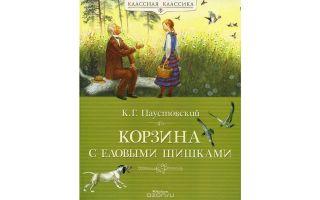 Краткое содержание книги «корзина с еловыми шишками» для читательского дневника (к. паустовский)