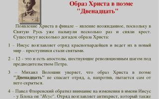 Образ иисуса христа в поэме а. блока «двенадцать»
