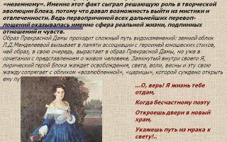 Образ прекрасной дамы в стихотворении а. блока «в ресторане»