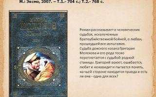 Краткое содержание романа «тихий дон» (м.а. шолохов): книга первая