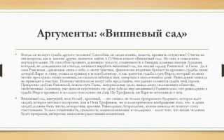 Аргументы на тему: доброта и жестокость в пьесе «вишневый сад» (а. п. чехов)