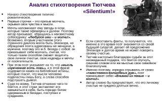 Анализ стихотворения тютчева «silentium»