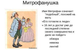 Образ митрофанушки в пьесе фонвизина «недоросль»