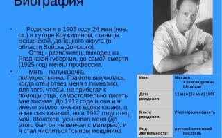 Биография м. а. шолохова: самое главное и основное