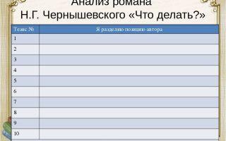 Анализ романа чернышевского «что делать?»