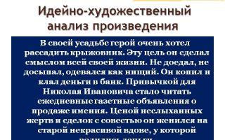 Анализ рассказа чехова «крыжовник»