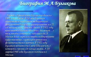 Очень краткая биография м. а. булгакова: самое важное