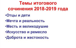 Список литературы для итогового сочинения 2018-2019 года