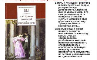 Краткое содержание книги «дубровский» по главам (а. с. пушкин)