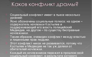 Конфликт в пьесе м. горького «на дне»