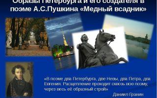 Образ петербурга в поэме «медный всадник»