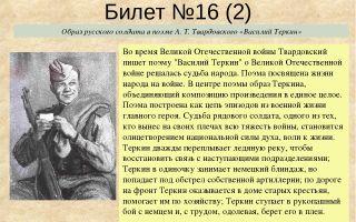 Образ русского солдата в поэме «василий тёркин»