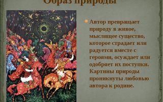 Природа в «слове о полку игореве»: ее образ, описание и роль