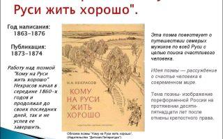 Анализ поэмы «кому на руси жить хорошо» (некрасов)