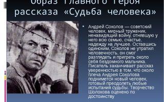 Образ андрея соколова в рассказе «судьба человека» (м. шолохов)