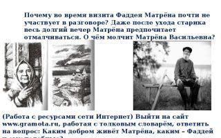 Образ фаддея в рассказе солженицына «матренин двор»