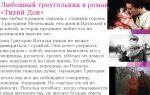Тема любви в романе «тихий дон» (м. шолохов)