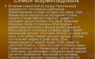 Сочинение: трагедия семьи мармеладовых в романе «преступление и наказание»