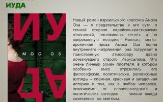 Рецензия на книгу амоса оза «иуда»
