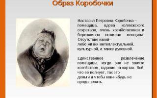 Образ и характеристика коробочки в поэме «мертвые души» (н. в. гоголь)