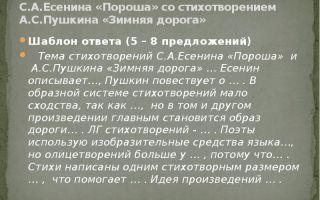 Анализ стихотворения «пороша» (с. есенин)