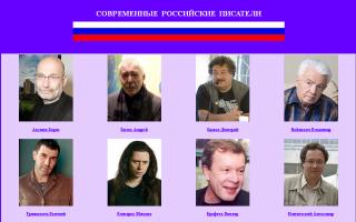 Современные русские писатели (список)