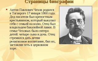 Полная биография чехова: жизнь и творчество