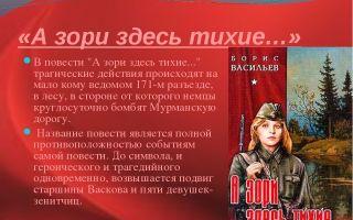 Подвиг в повести васильева «а зори здесь тихие»