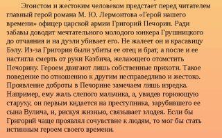 Аргументы на тему: доброта и жестокость в романе «герой нашего времени» (м. ю. лермонтов)