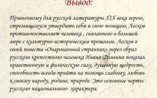 «очарованный странник»: русский национальный характер